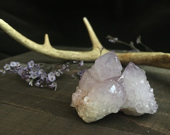 SPIRIT QUARTZ - crown chakra - develop higher self - multi-dimensional healing - amethyst