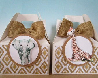 Safari Favor Boxes, Favor Boxes, Jungle Favor Boxes, Animal Favor Boxes, Zoo Favor Boxes, Safari Party Favors, Jungle Party Favors