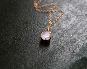 Moonstone Necklace on Gold Fill Chain