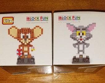 Tom and Jerry Nanoblocks Microblocks Building Construction Sets Cartoon
