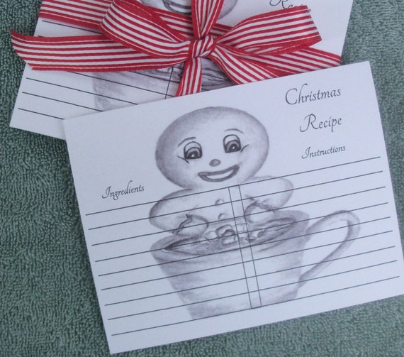 Recipe cards baking recipe cards christmas recipe cards like this item forumfinder Gallery
