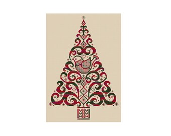 Christmas Tree - Durene J Cross Stitch Pattern
