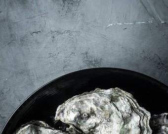 Food Photography, Oysters, Food Art, Still Life Photography, Home Decor, Wall Art, Restaurant Decor, Kitchen Art