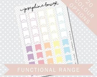 SHORT FLAGS - Functional Stickers - Planner Stickers Matt