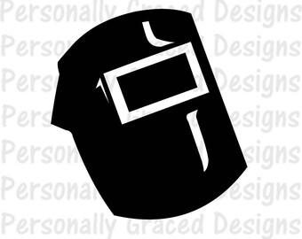 SVG, DXF, EPS Cut file Welding svg, Welder Helmet, Welder Hood, Cricut File, silhouette cut file, cameo file, Weld cut file, Welder Design