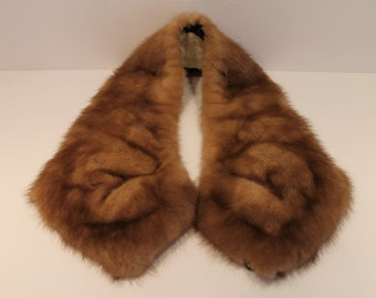 Genuine Vintage Fur Removable Collar - Animal Fur - Brown Fur Collar
