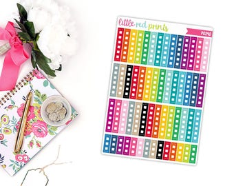 Horizontal Checklist Flag Planner Stickers for the Erin Condren Life Planner, Checklist Sticker, Checklist Planner Sticker - [P0240]