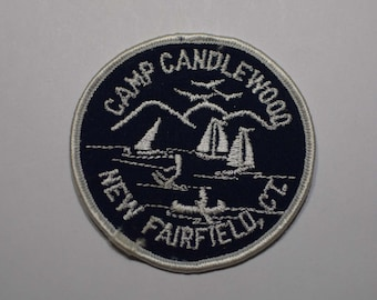 Vintage Connecticut Sailing Patch - Camp Candlewood, New Fairfield, CT