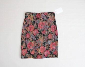 stretchy floral skirt | floral tapestry skirt | 90s skirt