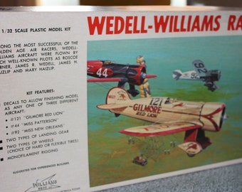 Wedell Williams Gilmore Red Lion Racer Model Airplane Kit -- 1/32 -- Williams Bros -- Unassembled, Plastic, Plane, Model Kit