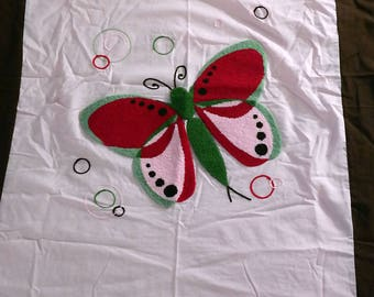 Chenille Butterfly Fabric Panel