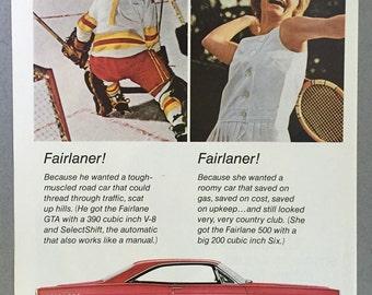 1967 Ford Fairlane Print Ad - Fairlane GTA Hardtop