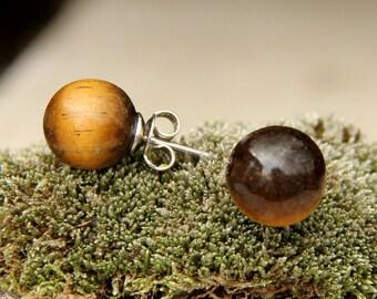 stud earring gemstone earring stone earring birthstone earring natural Jewelry Tiger Eye earring mens earring natural stone earring