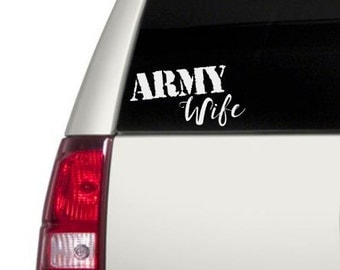 Army Wife Car Decal/Army/Decal
