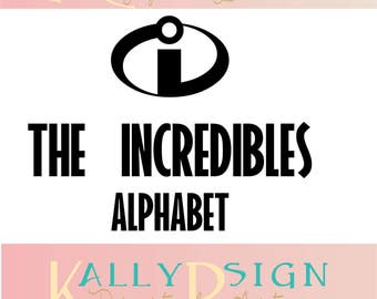 the incredibles SVG,  alphabet letters, svg fonts, monogram fonts, disney svg, incredibles SVG,  disney alphabet, disney monogram svg,