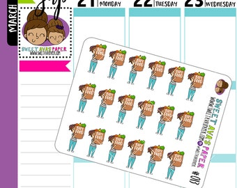 Grocery Shopping Planner Stickers | Buy Food Planner Stickers | Food Planner Stickers | Character Stickers | 013