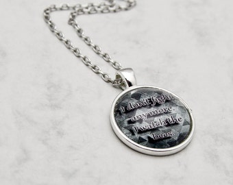 Necklace Pendant OR Keychain Castiel Supernatural Angel Fandom  quote SPN Winchester TV-Series round Glascabochon fashion jewelry bees