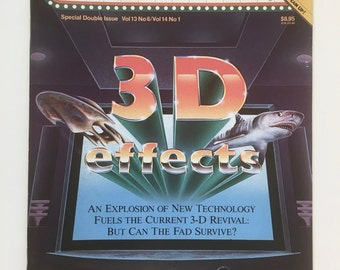 3 D Effects Magazine, Cinefantastique, Special Double Issue, 1983, Return of the Jedi, Jaws 3 D, Carnival of Souls, 3 D Technology