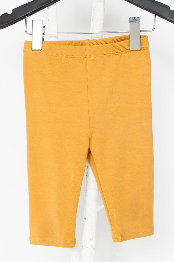 LOLLYPOP - plain 3/4-lenght legging - mustard yellow