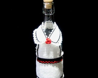 Crochet Cover for bottle wine, Cover bottle, Bottle decorations, Waitress  wine cozy, Decorazione bottiglia