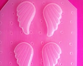 4pc Kawaii Fluttery Angel Wings Decodan Flexible Plastic Mold For Resin Crafts