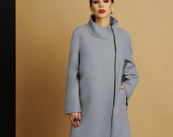 Winter women coat  LISSANA. Plus size coat. Women wool coat.