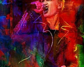 Billy Idol, Generation X, Rebel Yell, print, poster