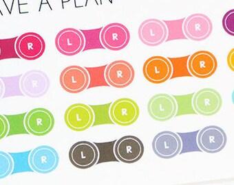 Planner Stickers Mini Contacts Case for Erin Condren, Happy Planner, Filofax, Scrapbooking
