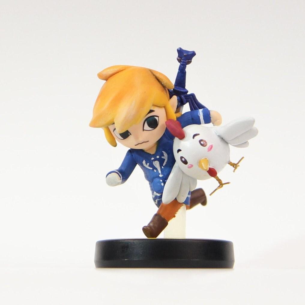 Custom Amiibo Toon Link Stealing Chicken Or Pig Zelda Wind