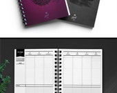 "LUCKY Planner 2017: Goal setter + Life planner + Weekly / Monthly / Yearly Agenda planner A5 (5.8"" x 8.3""), Pink Floral OR Grey/Black"
