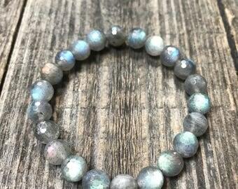 Labradorite Bracelet, Labradorite Jewelry, Mala Bracelet, Prayer Beads, Crystal Jewelry, Crystal Bracelet, Labradorite Mala, Labradorite