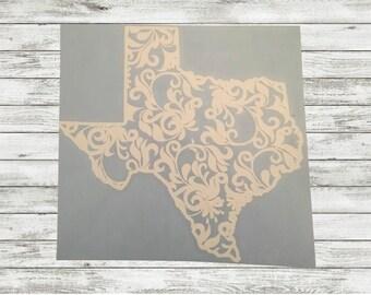 Texas Swirl Decal  Texas   Car Decal   Window Sticker
