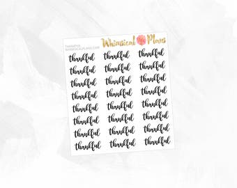 Thankful | Clear Matte Glossy Planner Stickers