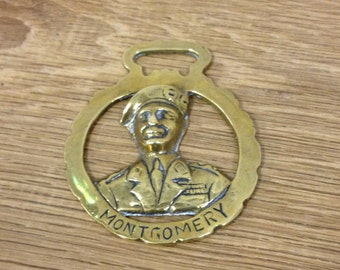 Vintage Brass General Montgomery / Monty Horsebrass - Ornament / Paperweight - In Very Good Condition.