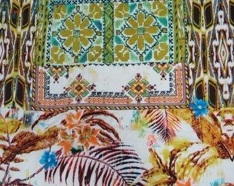 "Ethnic fabric, Floral Print, Dress Material, Cotton Fabric, Sewing Decor, Craft Fabric, 42"" Inch Designer Fabric By The Yard ZBC5725"