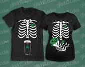 St. Patricks Maternity and Dad-to-be Skeleton T-shirts