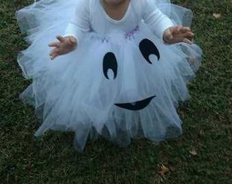 Halloween Tutu, Halloween Costume, Pumpkin Costume, Pumpkin Tutu, Ghost Costume, Ghost Tutu, Cute Halloween Costume, Custom Halloween Tutu