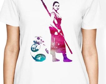 Star Wars Rey Shirt, BB8 Shirt, Star Wars Women Shirt, Star Wars Rey and BB8 Shirt, Star Wars Funny Shirt, Rey Shirt, BB8 shirt, Star Wars