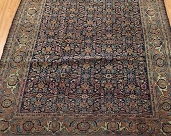"4'5"" x 6'5"" Antique Persian Tabriz Oriental Rug - 1920s - Hand Made - 100% Wool"