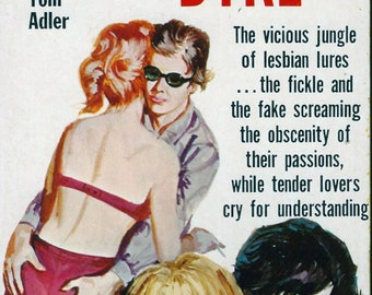 Lesbian pulp vintage art print Dance-Hall Dyke — pulp paperback cover repro