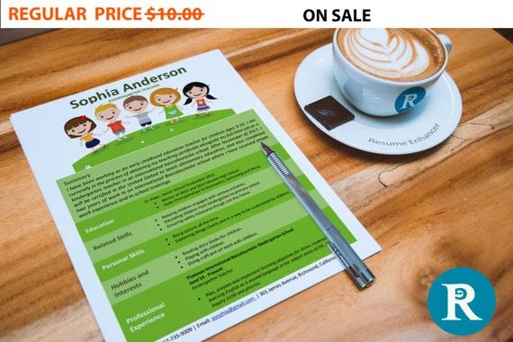 80% OFF SALE Kindergarten Teacher Resume Template | Resume Design | Teacher Resume | CV Template | Modern Template
