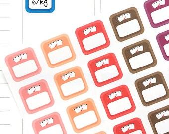 Weight Loss Stickers, MAMBI Weight Tracker Stickers, Scale Stickers, MAMBI Diet Stickers, Fitness Stickers for Erin Condren