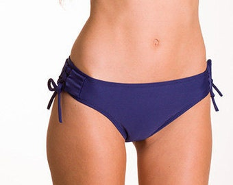 Brazilian Bikini Navy Bikini Bottom with Side Tie Swimwear Swimsuit