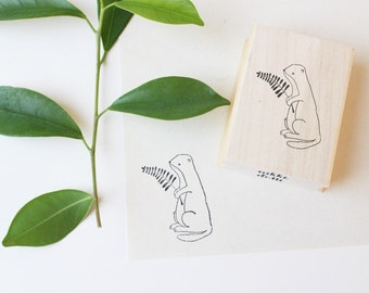 Rubber stamp Otter