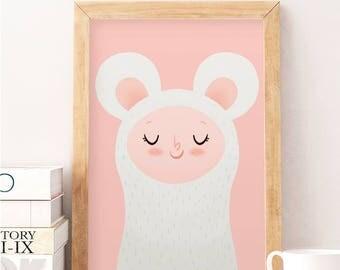 Nursery decor, Nursery wall art, Cute art, Kids room art, kids room decor, Baby room decor, Pink wall art, art for kids room, Nursery