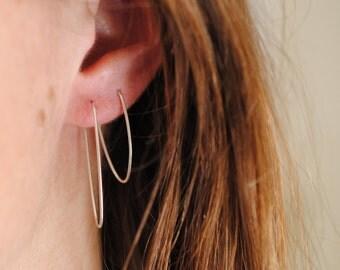 Pointed Hoop Earrings | Sterling Silver