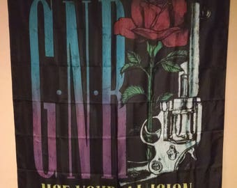 GUNS N ROSES Axl Pistol Use Your Illusion Cloth Fabric Poster Flag Banner Textile New!!!!!