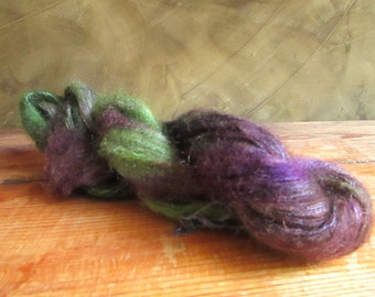Wool kid-mohair and silk hand-tinted