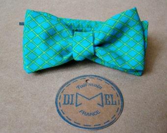 Bowtie green mesh adjustable tie