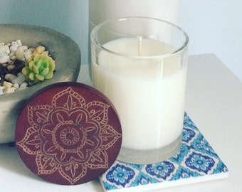 48 hour Mandala Soy Candle (Triple Scented)